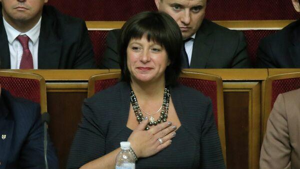 Minister finansów Ukrainy Natalia Jareśko - Sputnik Polska