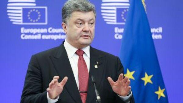 Prezydent Ukrainy Petro Poroszenko w Brukseli - Sputnik Polska
