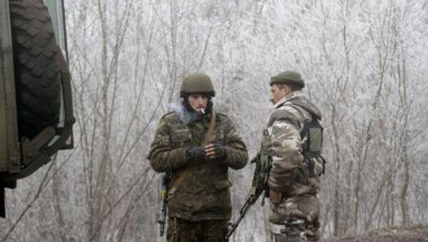 Konflikt na Ukrainie. Ukraińscy żołnierze - Sputnik Polska