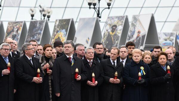Marsz Godności w Kijowie, 22 lutego 2015 - Sputnik Polska