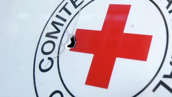 Symbol Flaga Międzynarodowego Komitetu Czerwonego Krzyża - Sputnik Polska
