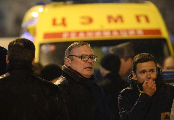 Michaił Kasjanow i opozycjonista Ilja Jaszyn na Dużym Moście Moskworeckim w centrum Moskwy, gdzie został zamordowany Borys Niemcow - Sputnik Polska