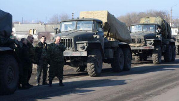 DRL wycofuje ciężkie uzbrojenie z linii frontu - Sputnik Polska