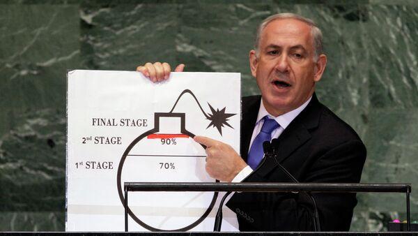 Binjamin Netanjahu, premier Izraela - Sputnik Polska