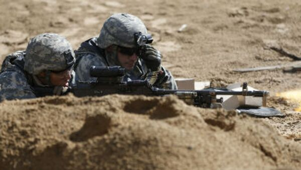 Żołnierze amerykańscy podczas szkoleń wojskowych na Litwie - Sputnik Polska