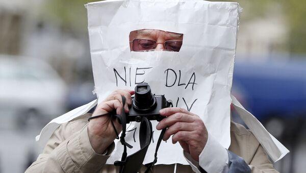 Maska ochronna z torby papierowej, Warszawa - Sputnik Polska