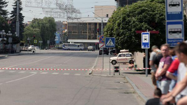 Autobus porwany przez uzbrojonego mężczyznę. Łuck - Sputnik Polska