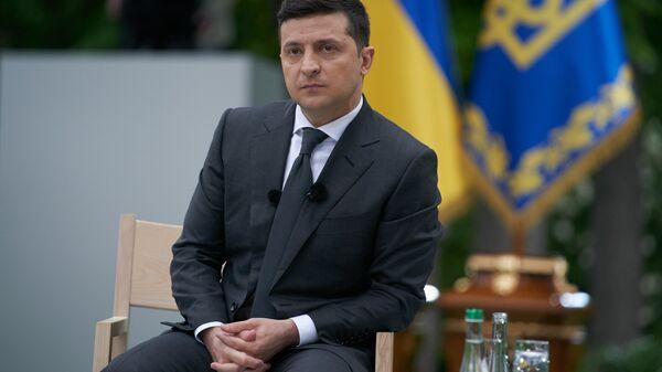 Prezydent Ukrainy Wołodymyr Zełeński. - Sputnik Polska