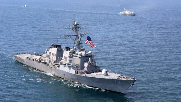 Amerykański niszczyciel Porter podczas międzynarodowych ćwiczeń morskich Sea Breeze 2020 na Morzu Czarnym - Sputnik Polska