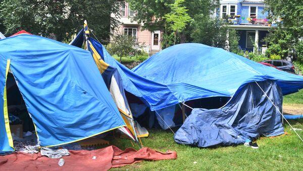 Obóz dla bezdomnych w Minneapolis - Sputnik Polska