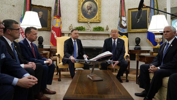 Wizyta Andrzeja Dudy do USA i spotkanie w Białym Domu z Donaldem Trumpem - Sputnik Polska