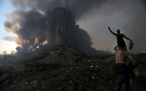 Skutki wybuchu w Bejrucie - Sputnik Polska