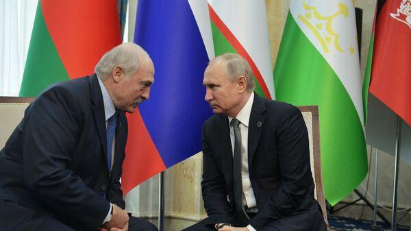 Prezydenci Rosji i Białorusi, Władimir Putin i Aleksandr Łukaszenka. - Sputnik Polska