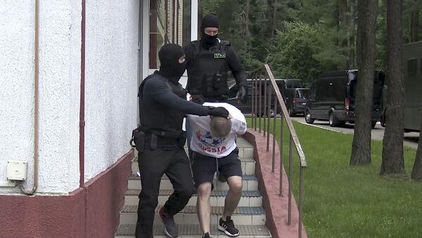 Zatrzymanie 33 Rosjan, pracowników prywatnej firmy wojskowej, na Białorusi. - Sputnik Polska