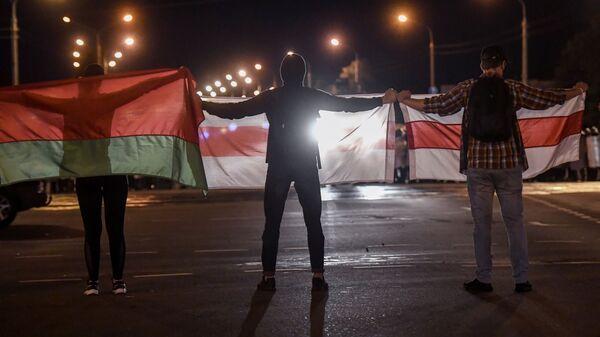 Akcje protestacyjne w Mińsku - Sputnik Polska