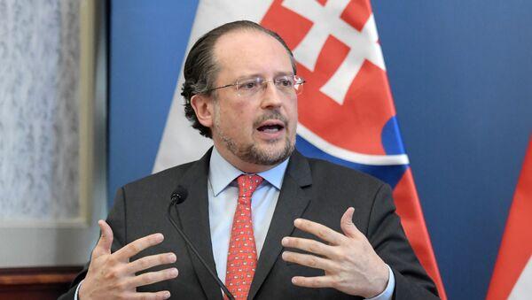 Austriacki minister spraw zagranicznych Alexander Schallenberg - Sputnik Polska