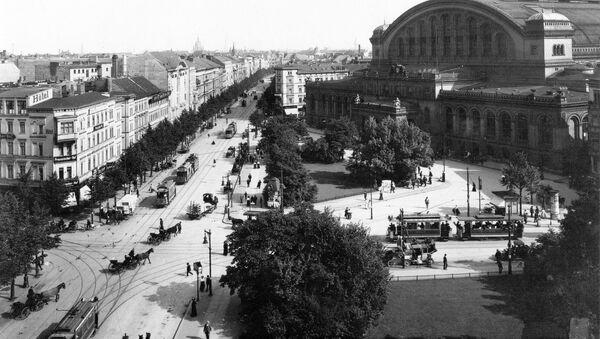 Widok na plac Askański w Berlinie. Zdjęcie archiwalne - Sputnik Polska