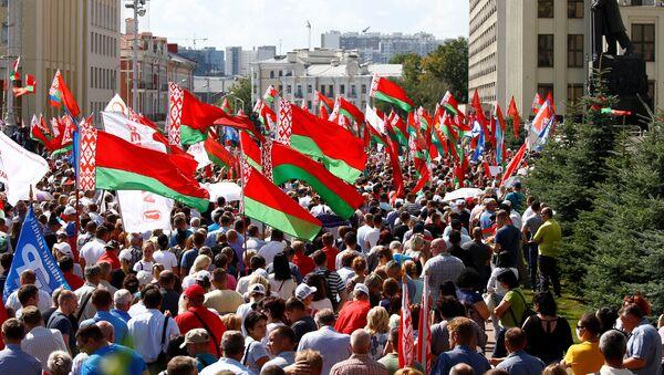 Wiec poparcia dla Alaksandra Łukaszenki w Mińsku - Sputnik Polska