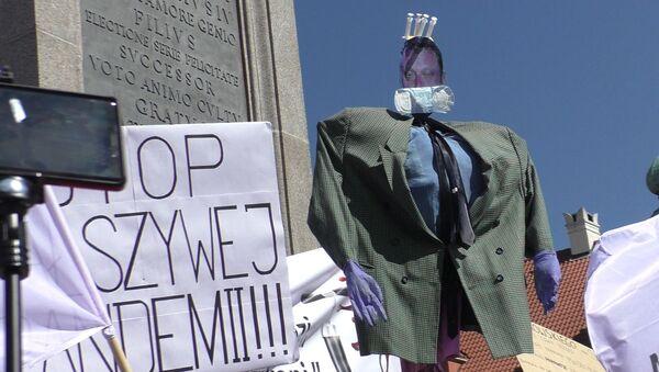 """Akcja protestacyjna """"Stop plandemii"""" na ulicach Warszawy - Sputnik Polska"""