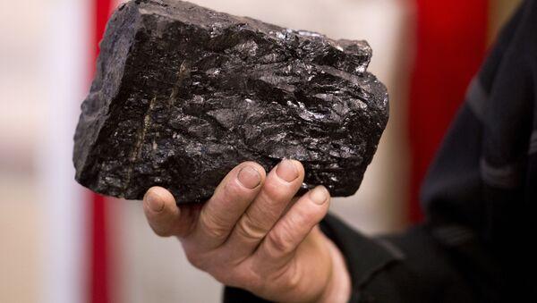 Węgiel w rękach angielskiego górnika - Sputnik Polska