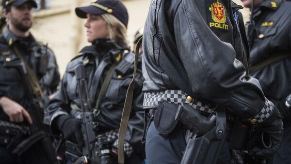 Policja w Norwegii. Zdjęcie archiwalne. - Sputnik Polska