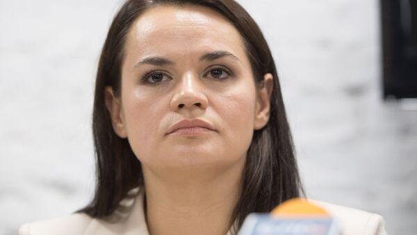 Kandydatka na prezydenta Białorusi Swietłana Cichanouska - Sputnik Polska