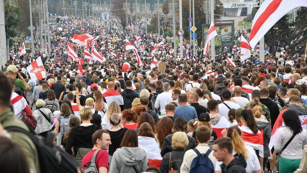 Protesty w Mińsku (23. 08. 2020) - Sputnik Polska