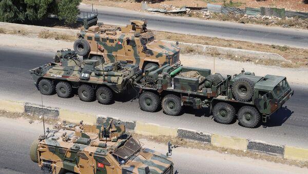 Rosyjsko-turecki patrol w Idlibie - Sputnik Polska