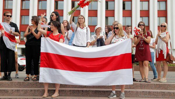 Akcje protestu w Mińsku - Sputnik Polska