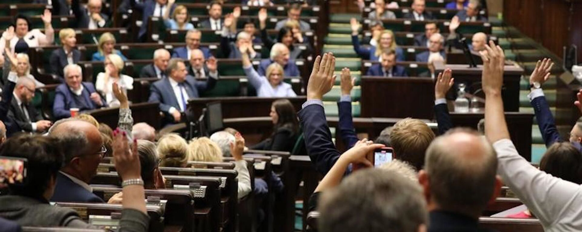 Posłowie Sejmu RP podczas głosowania - Sputnik Polska, 1920, 03.08.2021