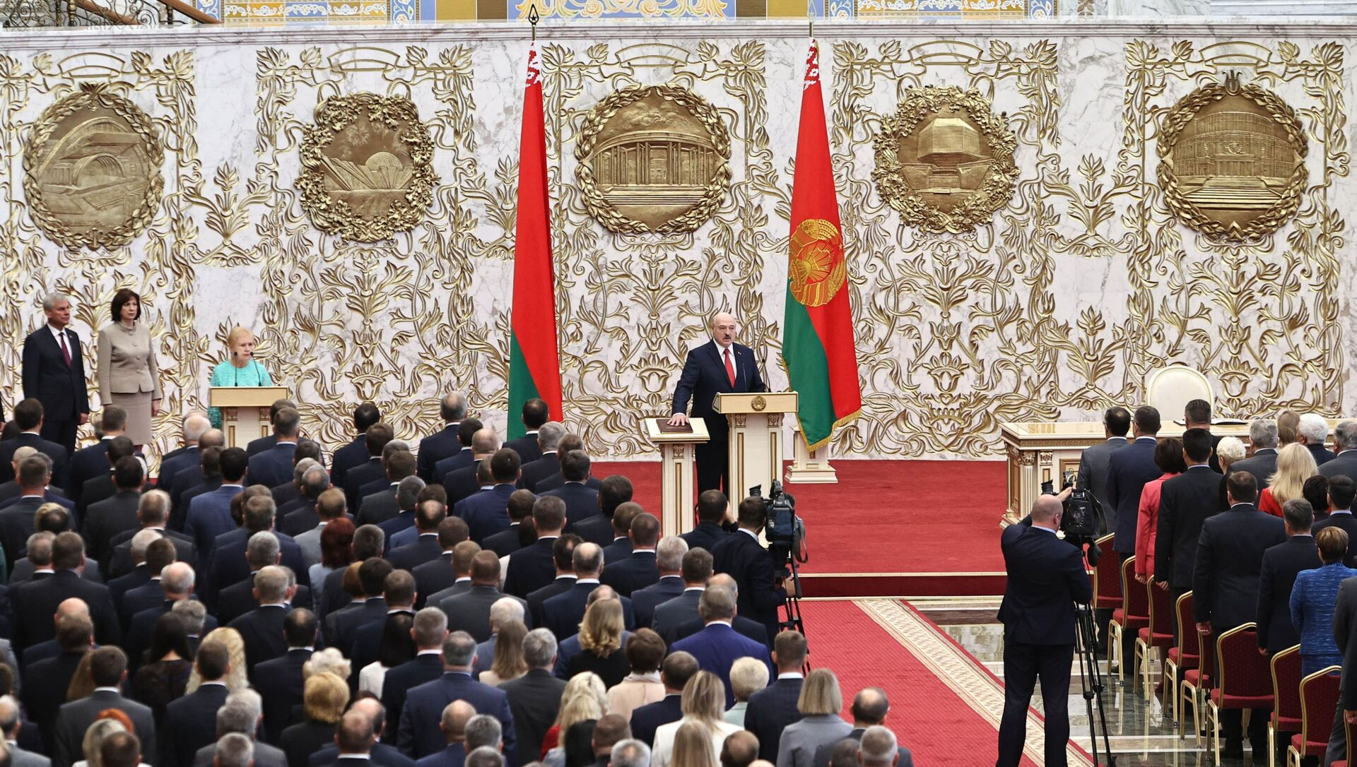 Alaksandr Łukaszenka podczas inauguracji na prezydenta Białorusi - Sputnik Polska, 1920, 28.03.2021