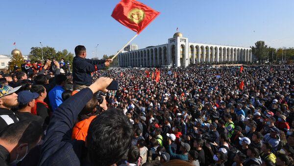 Protesty w Kirgistanie - Sputnik Polska