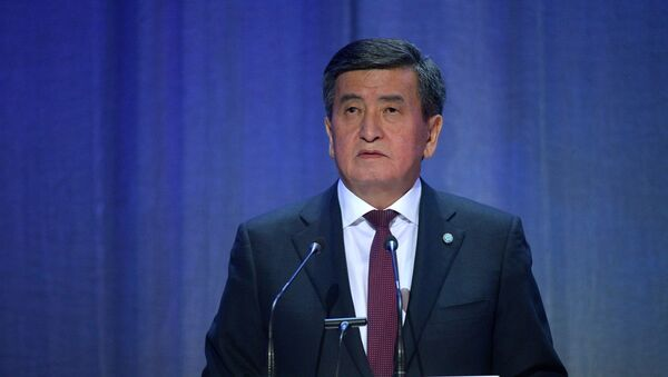 Prezydent Kirgistanu Sooronbaj Dżeenbekow - Sputnik Polska