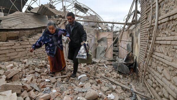 Mieszkańcy Azerbejdżanu podszas wojny z Armenią - Sputnik Polska
