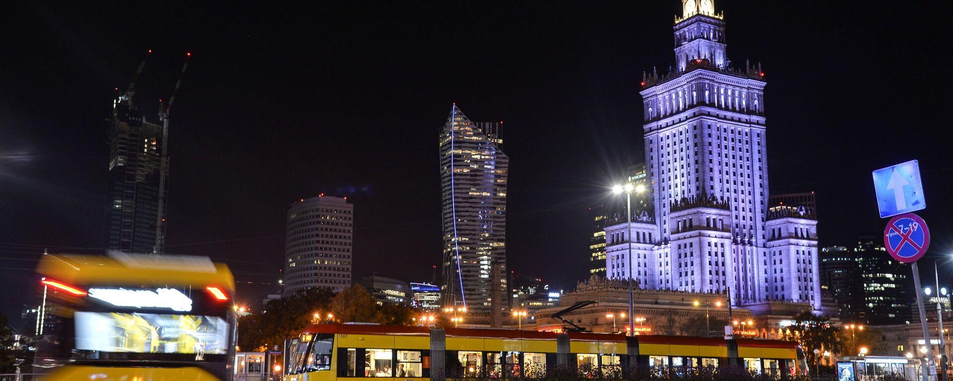 Warszawa nocą - Sputnik Polska, 1920, 20.03.2021