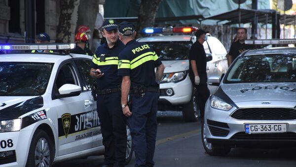 Policja w Gruzji - Sputnik Polska