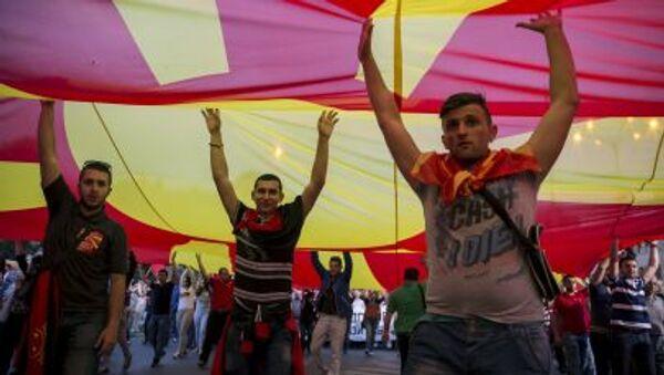 Protesty w Macedonii - Sputnik Polska
