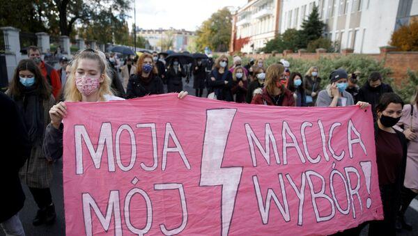 Protesty przeciwko zaostrzeniu przepisów dotyczących aborcji w Polsce, Gdańsk - Sputnik Polska