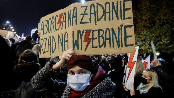Akcja protestacyjna w Warszawie - Sputnik Polska