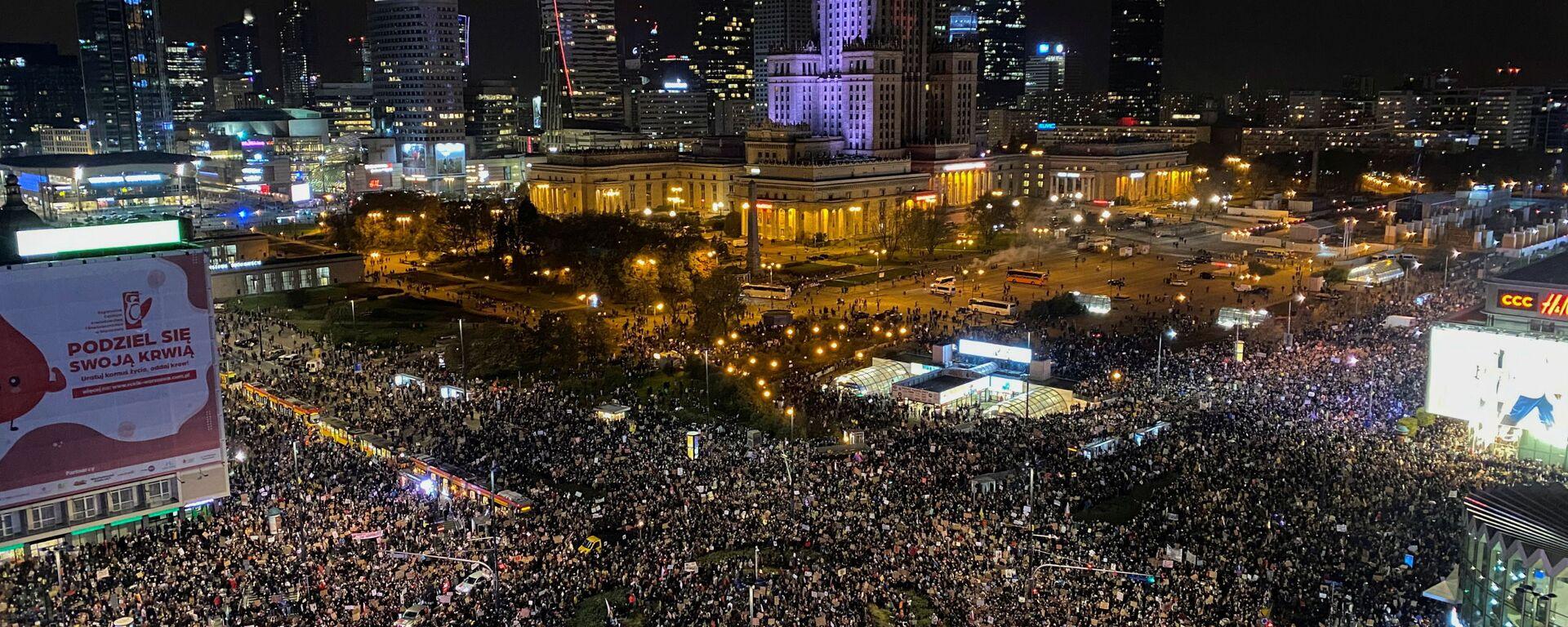 Protesty w Warszawie - Sputnik Polska, 1920, 03.11.2020