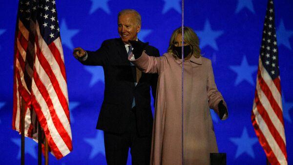 Joe Biden wraz z małżonką występują w Wilmington, Delaware, USA - Sputnik Polska