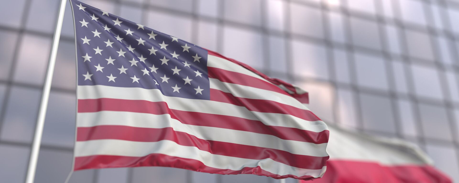 Flagi USA i Polski - Sputnik Polska, 1920, 23.07.2021