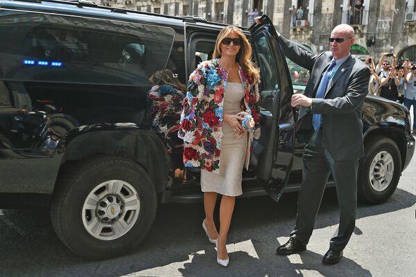 Melania Trump z wizytą na Sycylii, 2017 - Sputnik Polska