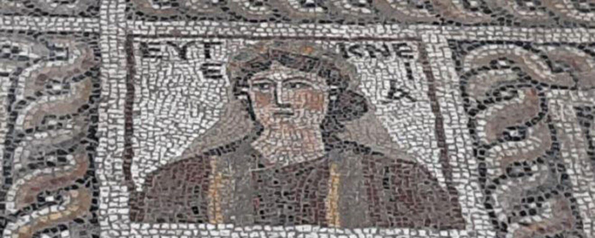 Mozaika znaleziona podczas wykopalisk w dystrykcie Kadirli w prowincji Osmaniye (Turcja) - Sputnik Polska, 1920, 29.07.2021