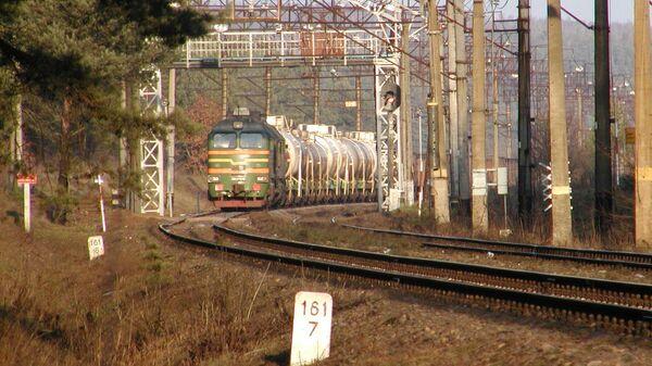 Поезд на государственной границе Белосток-Гродно - Sputnik Polska