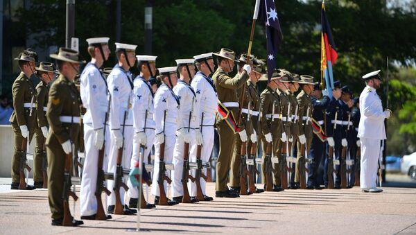 Straż Honorowa w Kwaterze Głównej Obrony przed publikacją ustaleń generalnego inspektora Sił Obrony Australii ds. dochodzenia w Afganistanie, Australia - Sputnik Polska