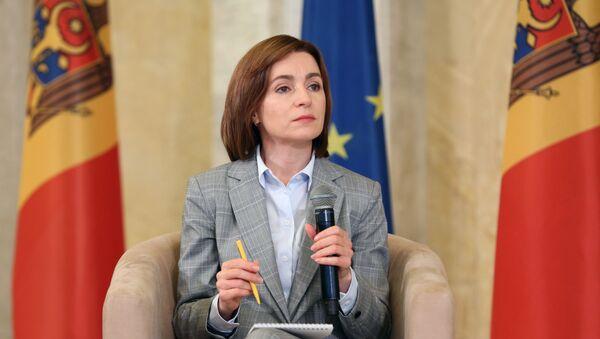 Prezydent-elekt Mołdawii Maia Sandu. - Sputnik Polska