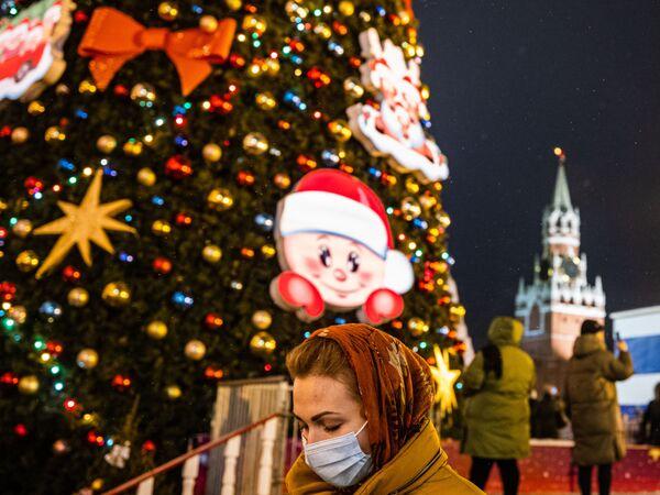 Choinka na Placu Czerwonym w Moskwie - Sputnik Polska
