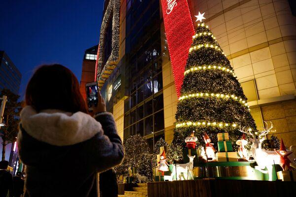 Świąteczna atmosfera w Seulu - Sputnik Polska