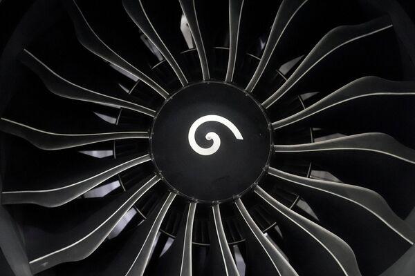Silnik Boeing 737 Max w hangarze naprawczym w Tulsie, Oklahoma, USA - Sputnik Polska